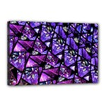 Blue purple Glass Canvas 18  x 12  (Framed)
