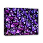 Blue purple Glass Deluxe Canvas 14  x 11  (Framed)