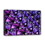 Blue purple Glass Deluxe Canvas 18  x 12  (Framed)