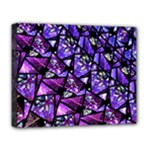 Blue purple Glass Deluxe Canvas 20  x 16  (Framed)