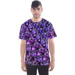 Blue purple Glass Men s Sport Mesh Tee