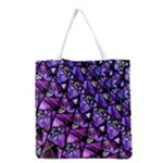 Blue purple Glass Grocery Tote Bag