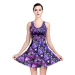Blue purple Glass Reversible Skater Dress