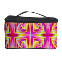 Pink And Yellow Rave Pattern Cosmetic Storage Case by KirstenStar