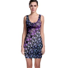 Dusk Blue And Purple Fractal Bodycon Dress by KirstenStar