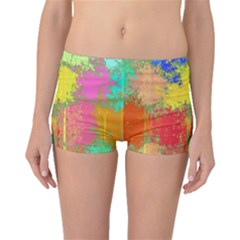 Colorful Paint Spots Boyleg Bikini Bottoms by LalyLauraFLM