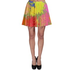 Colorful Paint Spotsskater Skirt by LalyLauraFLM