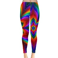 Rainbow Flower Leggings  by KirstenStar
