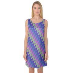 Diagonal Chevron Pattern Sleeveless Satin Nightdress by LalyLauraFLM