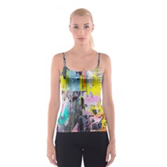 Graffiti Pop Spaghetti Strap Top by ArtistRoseanneJones