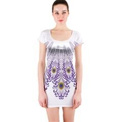 Peacock Short Sleeve Bodycon Dress by olgart