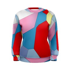 Colorful Pastel Shapes Sweatshirt by LalyLauraFLM