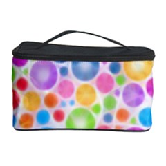 Candy Color s Circles Cosmetic Storage Case by KirstenStar