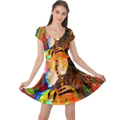 Robot Connection Cap Sleeve Dress by icarusismartdesigns