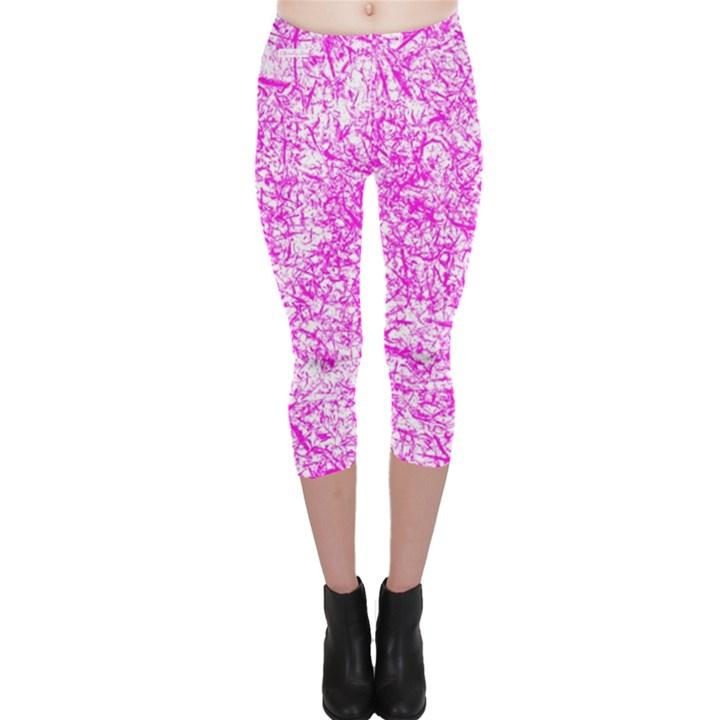 Officially Sexy Pink & White Capri Leggings