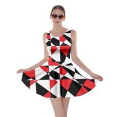 Shattered Life Tricolor Skater Dress by StuffOrSomething