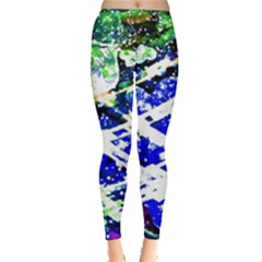 Officially Sexy Blue Floating Hearts Collection Leggings