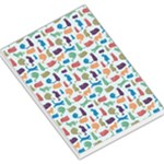Blue Colorful Cats Silhouettes Pattern Large Memo Pads