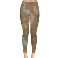 Paint Strokes In Retro Colors Leggings by LalyLauraFLM