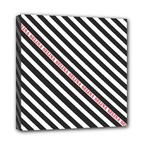 Selina Zebra Mini Canvas 8  X 8  by Contest580383