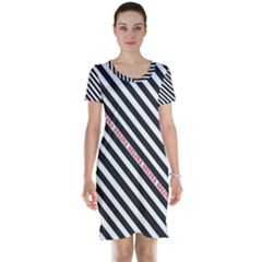 Selina Zebra Short Sleeve Nightdresses by Contest580383