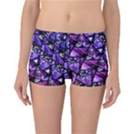 Blue purple Shattered Glass Boyleg Bikini Bottoms