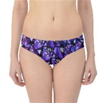 Blue purple Shattered Glass Hipster Bikini Bottoms