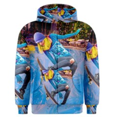 Skateboarding On Water Men s Zipper Hoodies by icarusismartdesigns