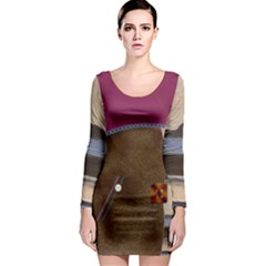 Lindisfarne Mix Long Sleeve Bodycon Dress by DeneWestUK