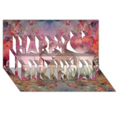 Nature And Human Force Happy Birthday 3d Greeting Card (8x4)  by infloence