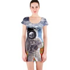 Exodus Short Sleeve Bodycon Dresses by icarusismartdesigns