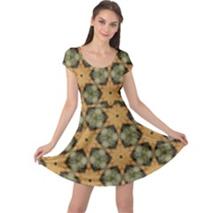 Faux Animal Print Pattern Cap Sleeve Dresses by creativemom