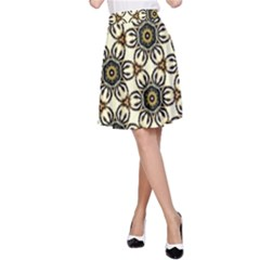 Faux Animal Print Pattern A Line Skirts by creativemom