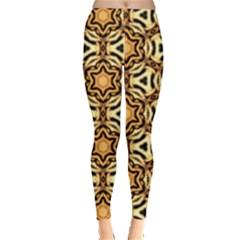 Faux Animal Print Pattern Women s Leggings by creativemom
