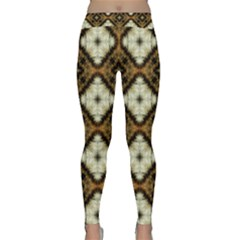 Faux Animal Print Pattern Yoga Leggings by creativemom