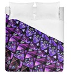 Blue purple Shattered Glass Duvet Cover Single Side (Full/Queen Size)