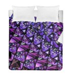 Blue purple Shattered Glass Duvet Cover (Twin Size)