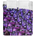 Blue purple Shattered Glass Duvet Cover (Double Size)