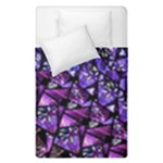 Blue purple Shattered Glass Duvet Cover (Single Size)