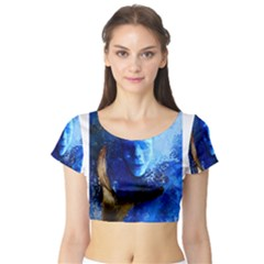 Short Sleeve Crop Top (tight Fit) by timelessartoncanvas