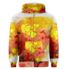 Fire, Lava Rock Men s Zipper Hoodies by timelessartoncanvas