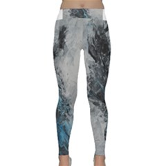Ghostly Fog Yoga Leggings by timelessartoncanvas