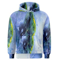Bright Yellow And Blue Abstract Men s Zipper Hoodies by timelessartoncanvas