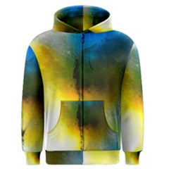 Watercolor Abstract Men s Zipper Hoodies by timelessartoncanvas
