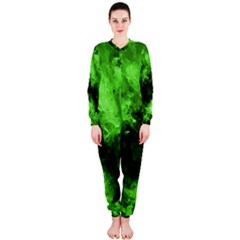 Bright Green Abstract Onepiece Jumpsuit (ladies)