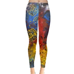 Space Pollen Winter Leggings by timelessartoncanvas