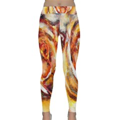 Abstract Rose Yoga Leggings
