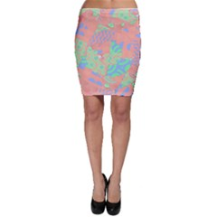 Tropical Summer Fruit Salad Bodycon Skirt by CrypticFragmentsColors