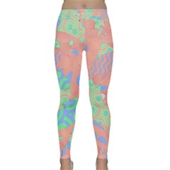 Tropical Summer Fruit Salad Yoga Leggings  by CrypticFragmentsColors