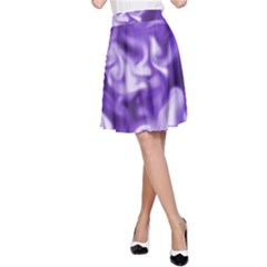 Lavender Smoke Swirls A Line Skirt by KirstenStar